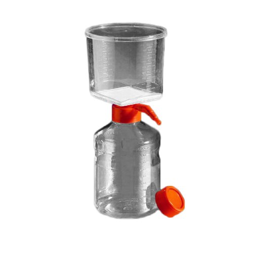 Corning 431118 Polystyrene Bottle Top Vacuum Sterile Filter, Polyethersulfone Membrane, 0.22 Micron, 45mm Bottle Neck Diameter, 500mL Capacity (Case of 12) by Corning