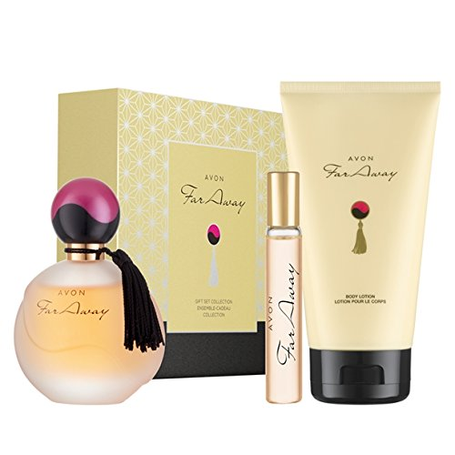 Avon Far Away Gift Set Eau De Parfum 50ml Body Lotion & Purse Spray Xmas