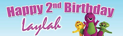 (Demea Printing Barney Birthday Banner 18 in. x 60 in. -)