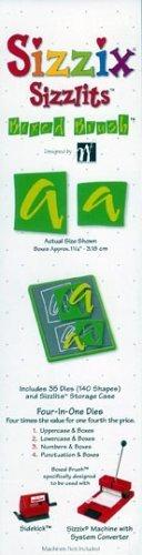 Medium Sizzlits Die - Sizzix Sizzlits Alphabet Set - Boxed Brush
