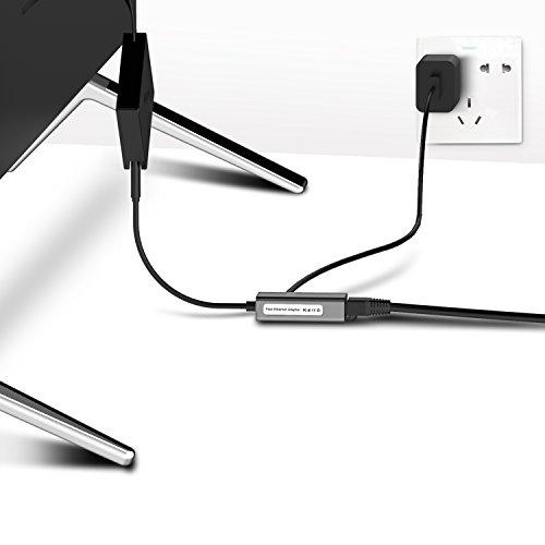 Basstop Ethernet Adapter for TV Sticks, Amazon Fire TV Device, Chromecast Ultra / 2 / 1 / Audio, Google Home Mini, Raspbbery Pi Zero, Micro USB to RJ45 Ethernet Adapter(Gray) by BASSTOP (Image #4)