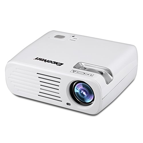 1080P LED Home Theater Projector (White) - 8