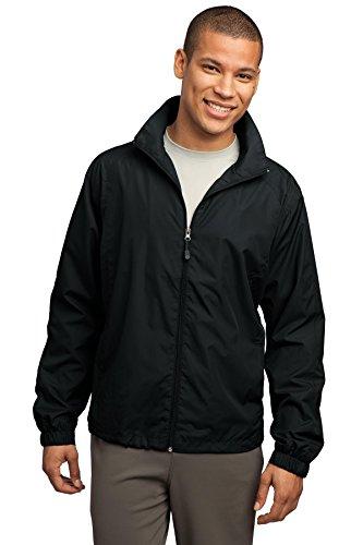 Sport-Tek Men's Full Zip Wind Jacket XXL Black (Lightweight Full Jacket Wind Zip)