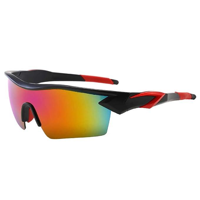 LAAT Gafas de sol deportivas gafas de sol polarizadas Gafas de hombre Deportes Gafas de sol con borde medio para correr al aire libre Montar bicicleta ...