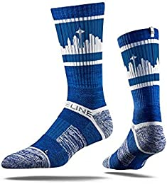 Seattle City Skyline Retro Blue Socks by Strideline One Size