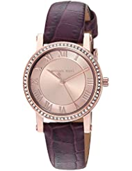 Michael Kors Womens MK2608 Rose Gold/Burgundy One Size