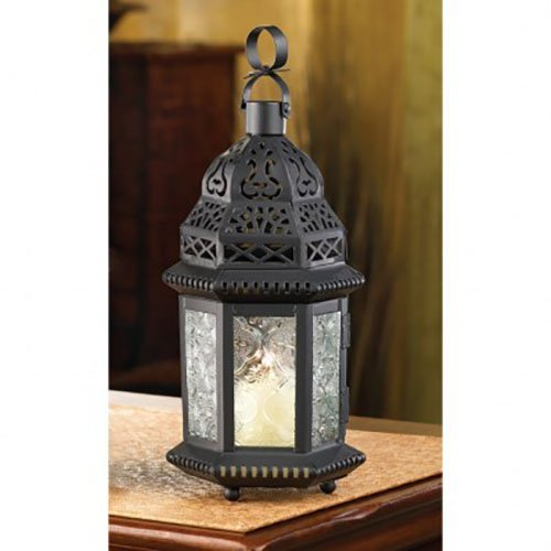 Winter Fire Candle Lantern - 1 Unit