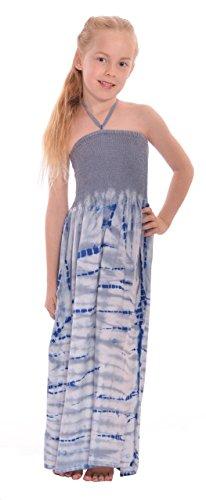 (Girl Tie Dye Smocked Maxi Dress (SML, St-Tropez))