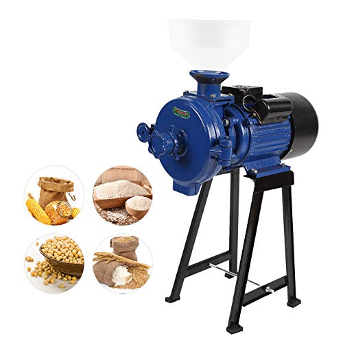 BEAMNOVA 1500W Professional Grain Mill Commercial Grinder Cast Iron For Flour Corn Wheat Feed Heavy Duty Grinding Miller
