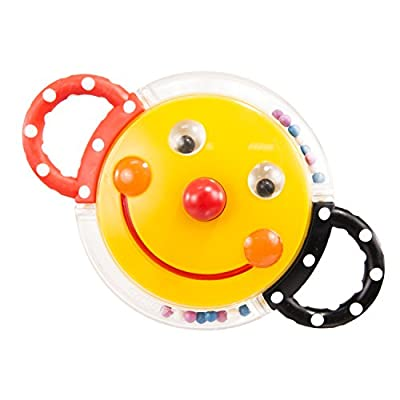 Sassy Rattle with Mirror, Smiley Face : Baby Rattles : Baby