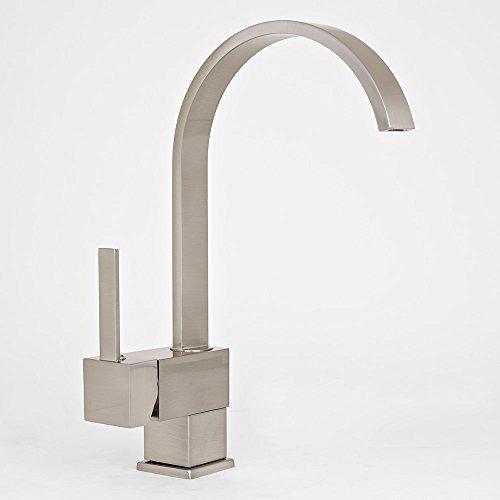 (New Single Handle Brushed Nickel Kitchen Bathroom Faucet Vessel Sink Basin Mixer)