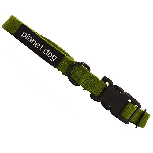 Planet Dog Lil' Hemp Collar, Adjustable, Machine Washable, Hypoallergenic, Small, Green