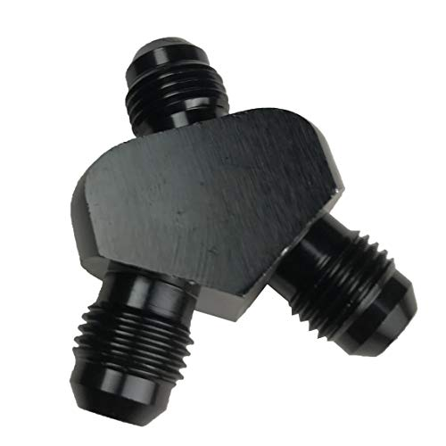 6AN Y Adapters 6 AN to AN 6 to AN6 Male Flare Fuel Line Hose Fitting Block Tee Pipe Aluminum Adapter