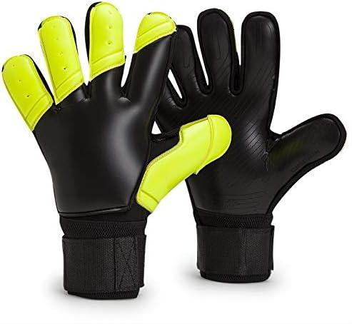 手袋 日常 実用 スポーツ手袋指取り外し可能なフルラテックス肥厚成人サッカーゴールキーパーグローブ (Color : Black/Green (No. 8)