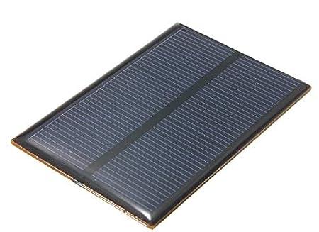EFI Electronics 5.5V 1W 180mA Monocrystalline Mini Solar Panel Photovoltaic Panel, Blue