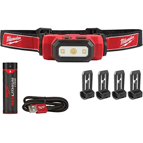 Milwaukee 2111-21 475 Lumens USB Rechargeable TRUEVIEW HD Headlamp New