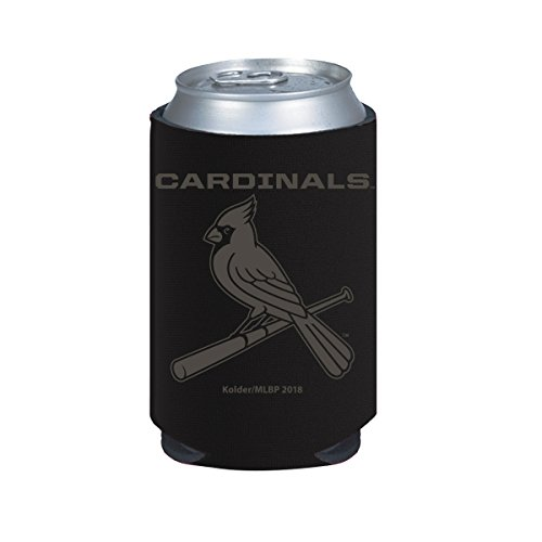 St Louis Cardinals 2-Pack BLACK TONAL CAN Koozie Neoprene Holder Cooler Baseball