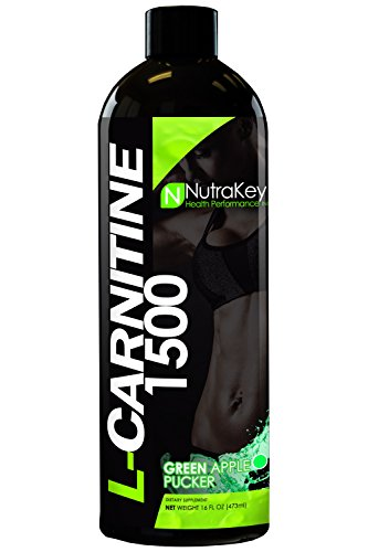 NutraKey L-Carnitine 1500 Liquid Fat Burner, Grape Crush, 31-Servings