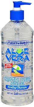Fruit of the Earth Aloe Vera Crystal Clear Aloe Gel 20 oz (Pack of 6) ()