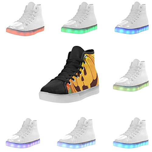 Sneakers InterestPrint Halloween Shoes Light Flashing Womens Up Pumking rainbow wqSwgYA