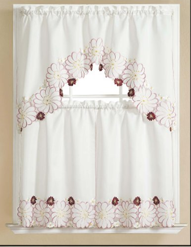 Adrianna Collection - RT Designers Collection Adrianna Kitchen Curtain, 30-Inch x 36-Inch