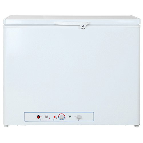 SMETA Gas/Electric Chest Freezer Lockable Absorption Propane Deep Freezer,7.1 cu ft,White