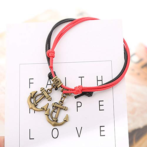 CTRCHUJIAN Vintage Hand-Knitted Anklet Simple Anchor Anklet Adjustable Bracelet Female Simple Couple Jewelry Sexy