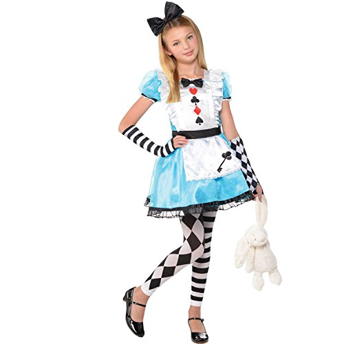 Alice In Wonderland Costume For Girls (AMSCAN Alice Halloween Costume for Girls, Medium, with Included)