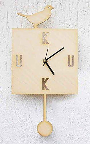 Wooden Wall Clock Kuku 100 Made In Italy Elisa Radice Design Amazon De Küche Haushalt
