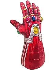SCV Iron Man Infinity Gauntlet met afneembare led-edelstenen Iron Man Light Up handschoenen Halloween Cosplay kostuum Prop speelgoed voor kinderen en volwassenen