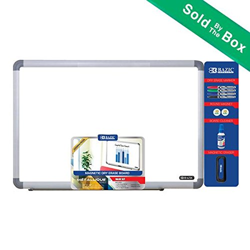 BAZIC 24'' x 36'' Aluminium Frame Magnetic Dry Erase Board Value Pack by Bazic Products