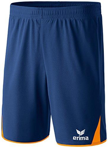 erima Kinder Shorts 5-Cubes, New Navy/Neon Orange, 140, 615523