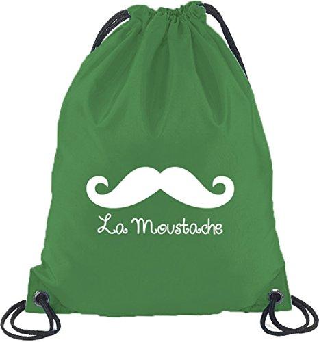 Shirtstreet24 Moustache Vert Bouteille La Sport De Sac Dos À Mustache Et 5r5wzS