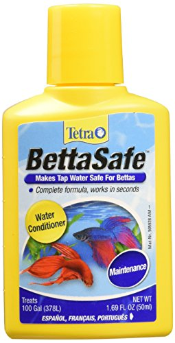 Tetra BettaSafe Water Conditioner, 1.69-Ounce, 50-Ml (Packaging may - Conditioner Aqua Tetra Aquasafe Water