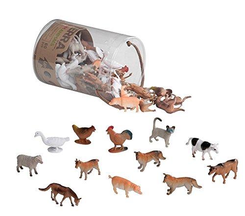 Terra - Farm Animals Mini Figure Set - 60pcs - Mini Farm Animals