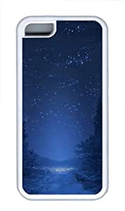 iPhone 5C Case and Cover -Night sky TPU Silicone Rubber Case Cover for iPhone 5C ¨CWhite