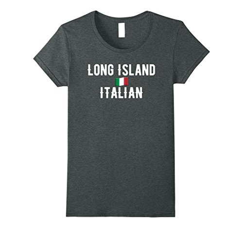 Long Island Italian - Womens Long Island Italian American Pride T Shirt Small Dark Heather