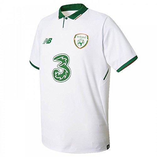 New Balance FAI Republic of Ireland 2017/18 Short Sleeve Away Jersey - Youth - White -