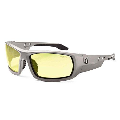 Ergodyne Skullerz Odin Safety Glasses - Matte Gray Frame, Yellow Lens