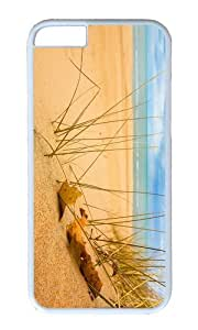 MOKSHOP Adorable beach sand grass sunshine Hard Case Protective Shell Cell Phone Cover For Apple Iphone 6 (4.7 Inch) - PC White