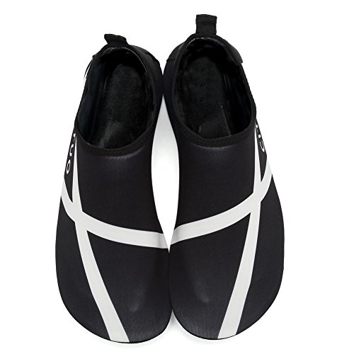 CIOR Männer und Frauen Barfuß Haut Aqua Schuhe Rutschfeste Multifunktionale Wasserschuhe Für Strand Pool Surf Yoga Übung S.black 02