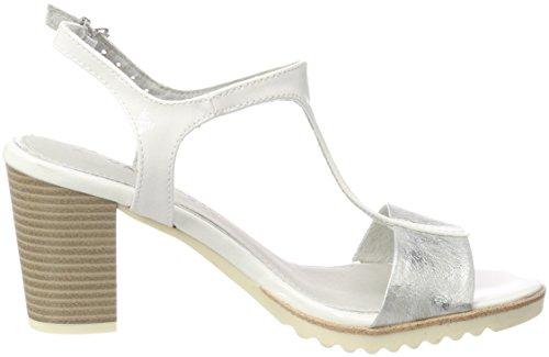 Sandales Blanc arrière 28732 Marco Comb Bride Femme Tozzi White pExRRqn6