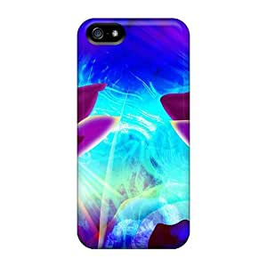Tpu Fashionable Design Floral Abstract Rugged Case Cover For Iphone 5/5s New