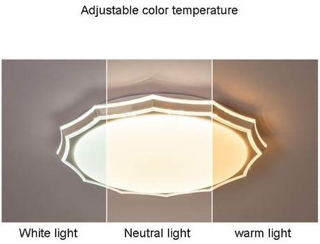 WNSS9 Licht LED-Decken Badleuchten Flush Mount Decken Montage Ø19.8in Round-Einbaustrahler for Schlafzimmer, Wohnzimmer, Essbereich, White Light, 36W