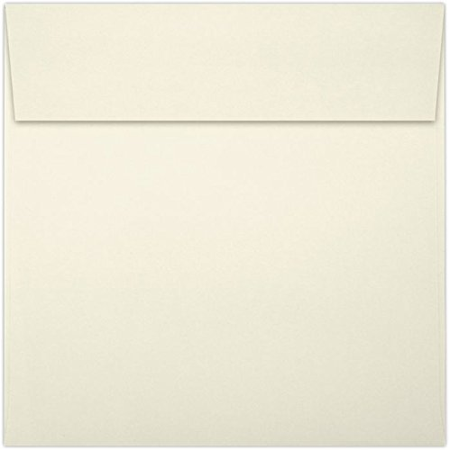 6 1/2 x 6 1/2 Square Envelopes - Natural (50 Qty) | Perfect for Invitations, Announcements, Greeting Cards, Photos | 8535-03-50
