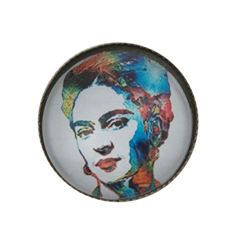 ViciBeads Unisex Day of The Dead Halloween Frida Kahlo Brooch Antique Bronze 20mm Bag]()