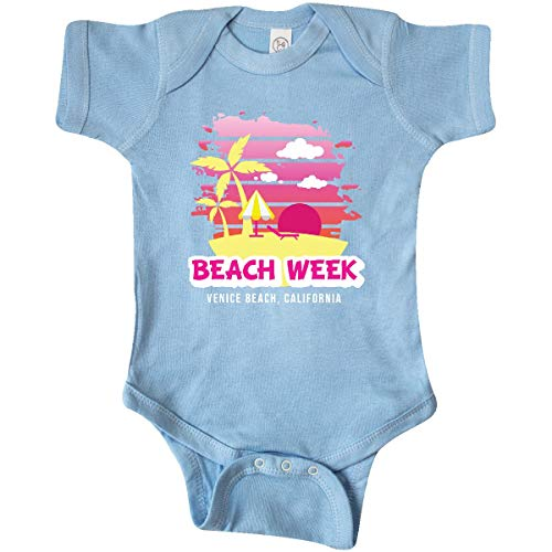 inktastic Beach Week Venice Beach California Infant Creeper Newborn Baby Blue (Venice Beach Girl)