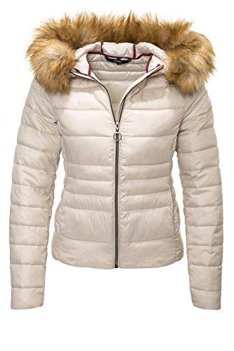 fur Vero Avoine Padded Moda short jacket by with hood 4qPHz
