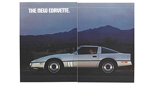 (Magazine Print Ad: 1984 Chevy Corvette, Fold-out poster,