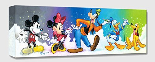 Friends by Design - Treasures on Canvas - Disney Fine Art Fab Five Gallery Wrapped Canvas Wall Art by Tim Rogerson